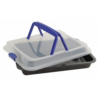 Kuchenbutler 40x32, 5cm Kuchen Backblech Auflaufform Kuchenbehälter Transportbox
