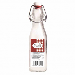 """Bügelflasche """" Swing"""" vierkant 250 ml mit Bügelverschluss"""