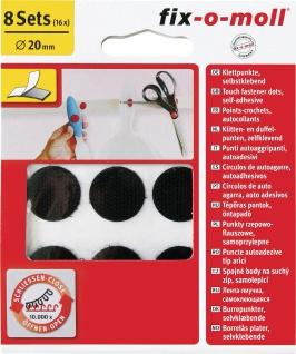 fix-o-moll KLETTPUNKT Klettpunkte 3563428 Sk Schwarz 20mm