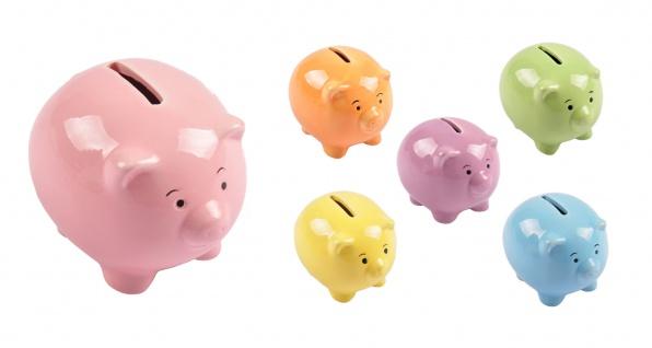 Süsses Sparschwein aus Keramik Spardose Sparbüchse Geldgeschenk Schwein Geldbox