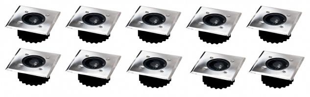 10x LED Solar-Bodeneinbauleuchte Bodenstrahler Bodeneinbaustrahler Solarlampe