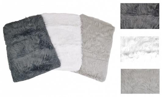 Kunstfellteppich Auflage Vorleger Bettvorleger Teppich Fellteppich 60x90x5cm