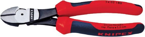 Knipex KRAFTSEI-SCHNEID Kraft-Seitenschneider 7402 Ku-h 180mm