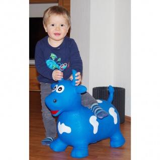 Hüpftier Kuh oder Einhorn mit Pumpe Hüpfball Hopser Pferd Pony Kinder Spielzeug - Vorschau 3