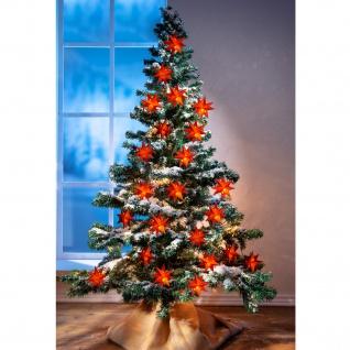 LED-Lichterkette Sterne rot 1, 35m Weihnachtsdeko Leuchtdekoration Batterie