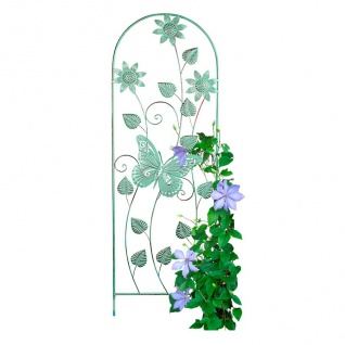 Metall Rankhilfe Schmetterling Blüte Blumenspalier Rankgitter Kletterhilfe grün