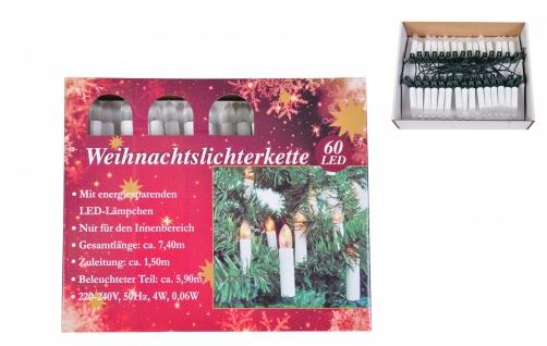 LED-Weihnachtsbaumkerzen 60 Kerzen Christbaumkerzen Lichterkette Baumschmuck