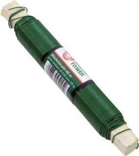 Greentower WICKELDRAHT Blumenwickeldraht 100g Gruen Lack. 0, 65mm