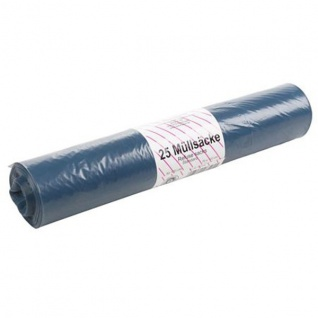 Müllsäcke 25 Stück 120L Blau Abfallsäcke Müllbeutel Abfallbeutel Säcke 70x110cm