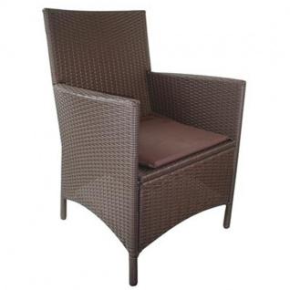 Korbsessel braun Rattansessel 48x46cm Gartenstuhl Gartensessel Sessel Stuhl