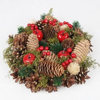 Weihnachts-Dekokranz mit Zapfen 25cm Türkranz Weihnachtsdeko Weihnachtskranz - Vorschau 1