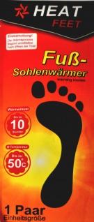 """1 Paar Fußsohlenwärmer """" Heat Feet"""" Wärmesohlen Schuhwärmer Sohle Fußwärmer - Vorschau 1"""