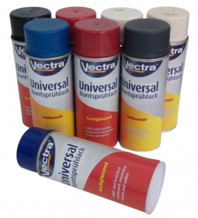Vectra® Universal Sprühlack Lackspray 400 ml Farbspray Sprühdose Spraydose Dose