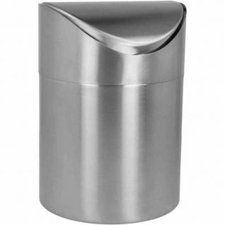 Tisch-Abfallbehälter Edelstahl