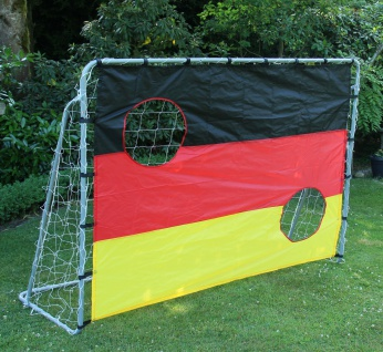 2 Fußballtore mit Torwandeinsatz 215x152x76cm Torwand Fussballtor Tor Netz