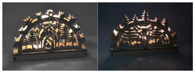 Holz-Schwibbogen 5 LEDs Lichterbogen Weihnachtsdeko Fensterdeko Adventsdeko