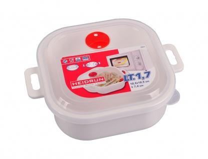 Mikrowellen Kasserolle 1, 7L Mikrowellengeschirr Gefrierdose Frischhaltedose Topf