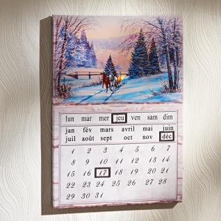 Ewiger LED-Kalender Winterlandschaft französisch Dauerkalender Wandkalender