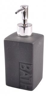 Keramik Seifenspender grau Seifendosierer Seife Spender Badezimmer Flüssigseife