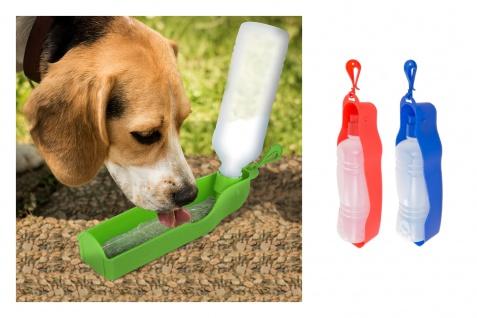 Reisetrinkflasche für Haustiere 400ml Wasserspender Trinknapf Trinkflasche Napf