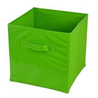 Aufbewahrungsbox grün 27x27cm Regalbox Spielbox Faltbox Aufbewahrungskiste