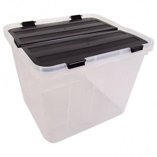 Aufbewahrungsbox Deckel geteilt Spielzeugkiste Allzweckbox Klarsichtbox Kiste