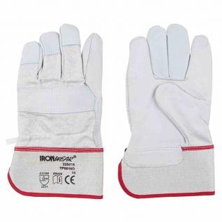 Arbeitshandschuhe Gr 10 Rinderleder 1, 3mm Handschuh Arbeit Sicherheit Schutz NEU