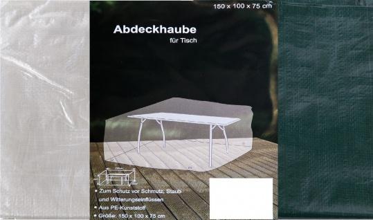 Abdeckhaube für Tisch eckig Schutzhülle Möbelabdeckung Schutzhaube 150x100x75cm