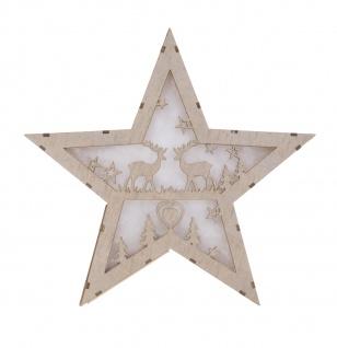 LED-Deko-Stern aus Holz Weihnachtsstern Adventsstern Weihnachtsschmuck Holzstern