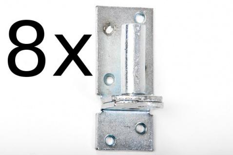 8 Stück Kloben elektrisch verzinkt D 1, 16 mm für Ladenband Plattenhaken Haken