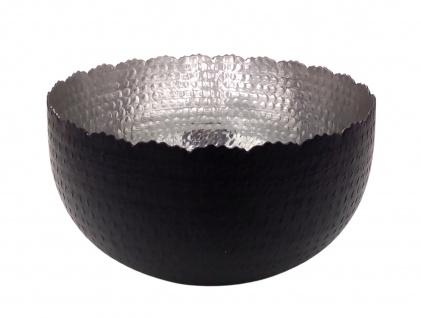 Deko-Metallschale Ø29cm schwarz silber Dekoschale Obstschale Tischdeko Schale