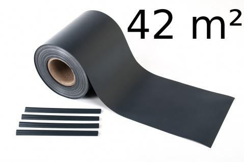 42m² PVC Sichtschutz Windschutzzaun Zaunblende Lärmschutz Doppelstabmattenzaun