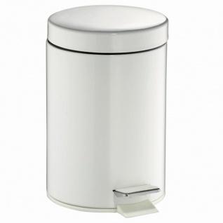 Treteimer rund 3l weiß Mülleimer Abfalleimer Müllbehälter Mülltonne Haushalt TOP