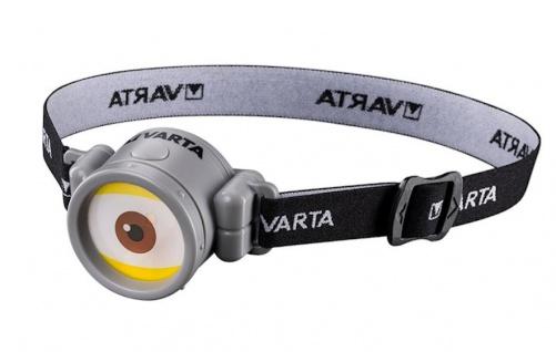 Varta LED-Stirnlampe Minion Kopfleuchte Kopflampe Kinderlampe Fahrradhelmlampe