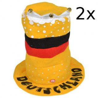 2x Tanzender Deutschland Fan-Hut WM Deutschlandhut Deutschlandmütze