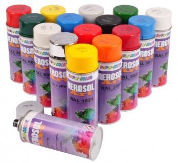 Dupli-Color Aerosol Art Farbspray 400ml versch. RAL matt glänzend Farbe Klarlack