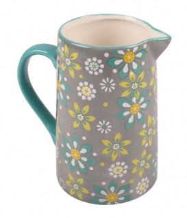 Keramik Krug 1, 4L Wasserkrug Saftkrug Milchkanne Saftkanne Wasserkanne Deko Vase