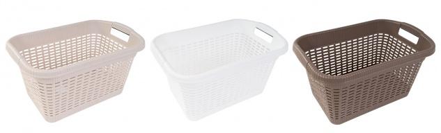 Wäschekorb 20L Rattan-Optik Wäschesammler Wäschebehälter Wäschebox Wäschewanne