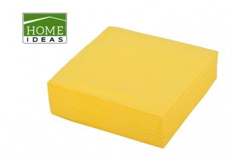 2500 Servietten gelb 33x33cm 3-lagig 1/4 Falz Papierserviette Papiertuch Deko