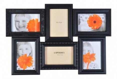 Antiker Collage-Bilderrahmen schwarz antik Fotorahmen Multirahmen Fotogalerie