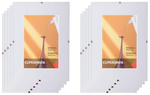 10x Rahmenloser Bilderrahmen 15x21cm Fotorahmen Bilderhalter Cliprahmen Rahmen