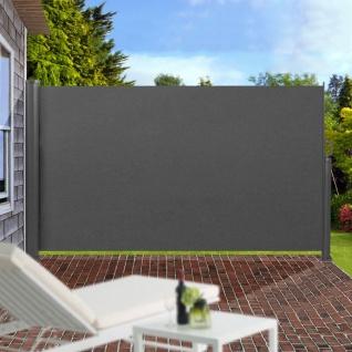 Seitenmarkise Sichtschutz Windschutz Sonnenschutz Seitenrollo Markise 300x160cm