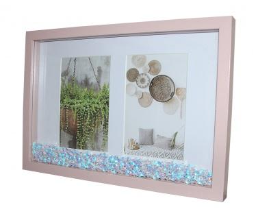 Fotorahmen rosa mit Glitzer-Pailletten 22x32cm Bilderrahmen Foto Rahmen Deko