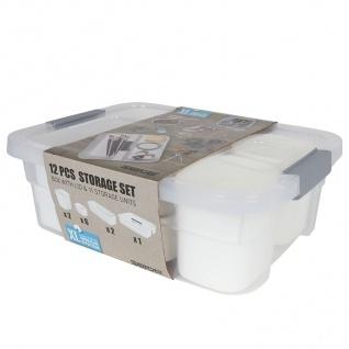 Aufbewahrungsboxen-Set 12-teilig Storage Box Organizer Sortierkasten Stapelbox