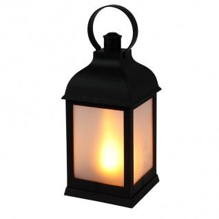 LED Deko-Laterne Flackereffekt warmweiß Lampe Leuchte Weihnachtsdeko Milchglas
