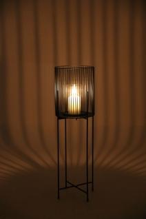 Windlicht mit Glaseinsatz 63cm Kerzenständer Kerzenhalter Blumentopfhalter Deko