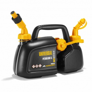 Kombikanister für 3 Liter Benzin und 1, 5 Liter Öl Zwei Ausgüsse