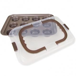 Muffin-Container Muffinform Muffinbackform Cupcakes Kuchenbehälter Kuchenbutler - Vorschau 2
