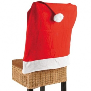 Stuhlhusse Nikolausmütze Weihnachtsmütze Stuhlüberwurf Weihnachtsdeko Stuhlbezug - Vorschau 2