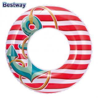Bestway Kinder Strandset 3 tlg. Strandspielzeug Wasserball Schwimmring Matratze - Vorschau 4